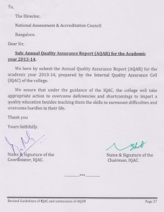 Submission of AQAR-2013-14